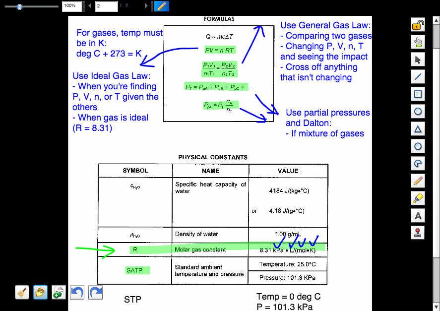 gas formulas