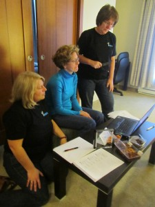 Kerry, Audrey and Peggy hard at work preparing QPAT presentation on the Flipped Class