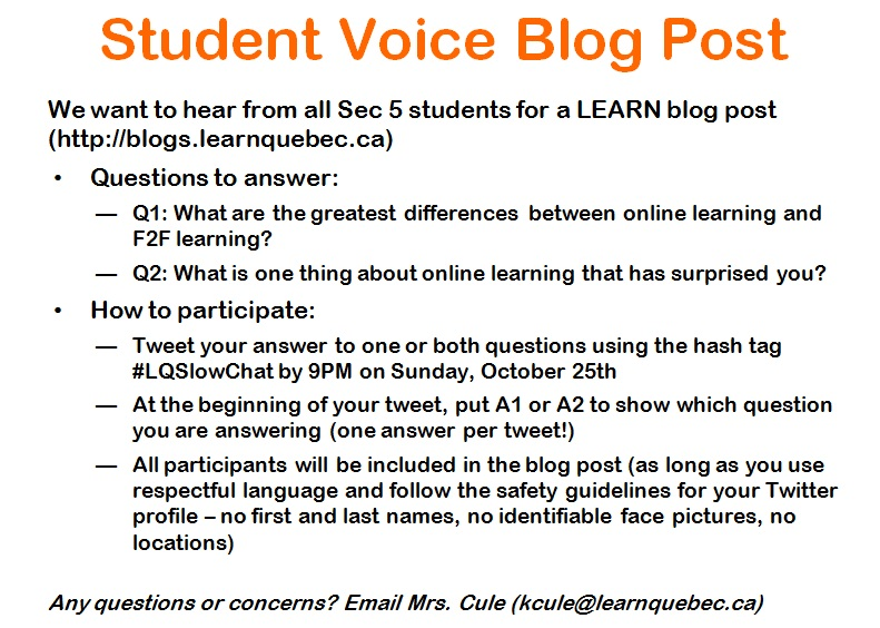 Student Voice Blog Post